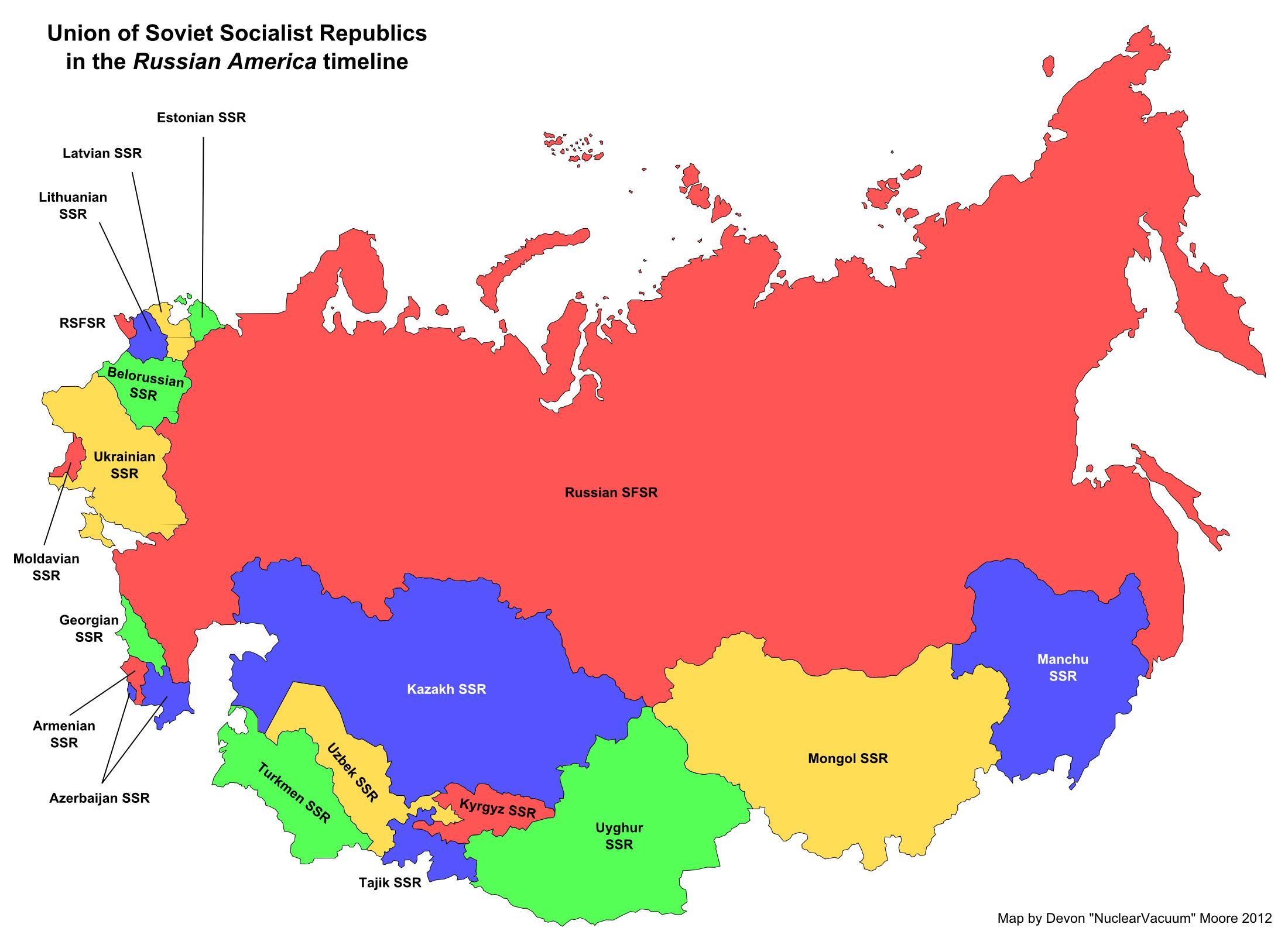 Sowjetunion Karte