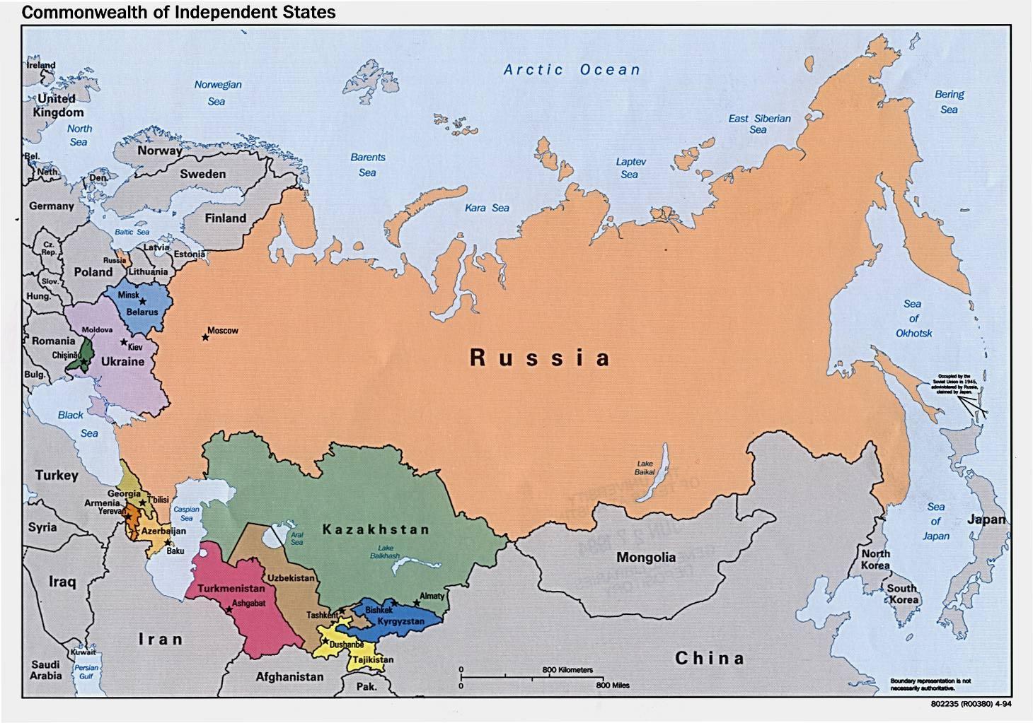 Karte Russland.Karte Von Russland Eine Karte Von Russland Osteuropa