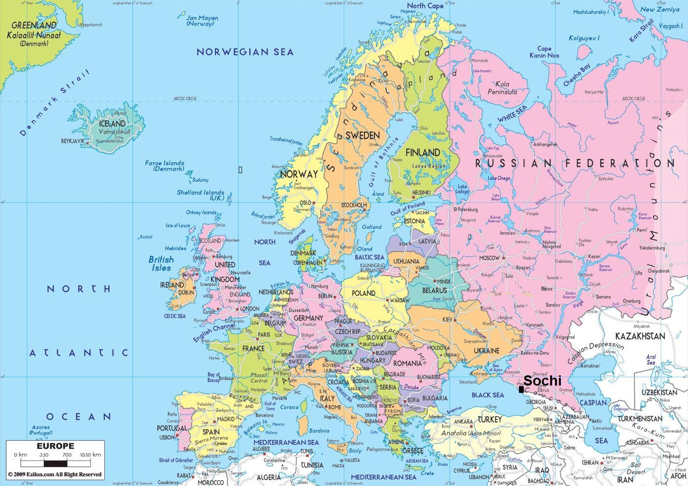 Lander In Der Nahe Von Russland Landkarte Karte Von Staaten In