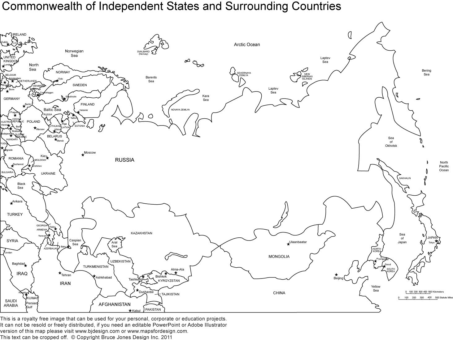 Russland und Republiken map quiz - Russland und die ...