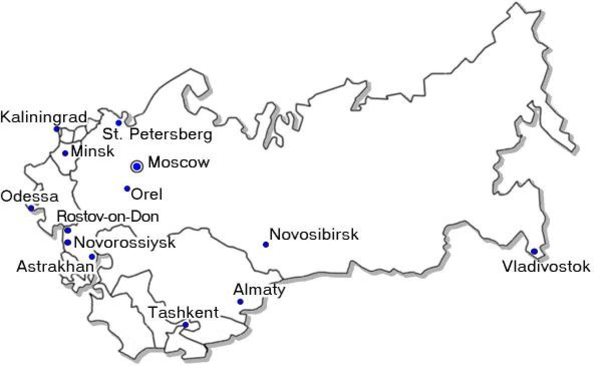 Grossen Russischen Stadten Anzeigen Grossen Stadte In Russland