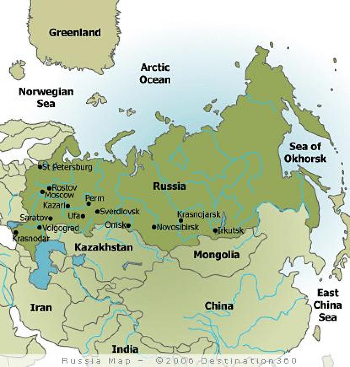 Karte Von Russland Mit Stadten Karte Der Stadte In Russland