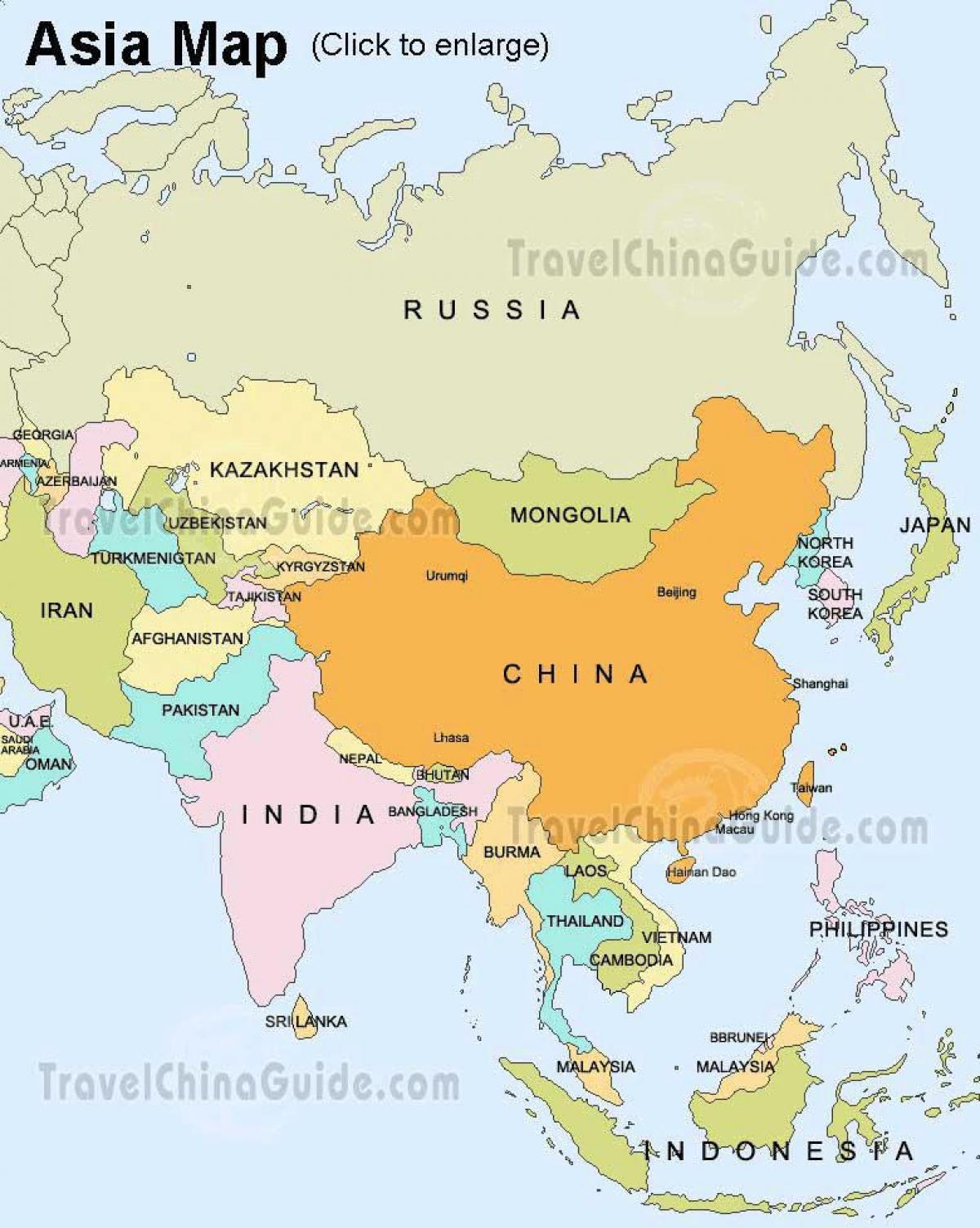 Karte Europa Asien.Karte Von Russland Und Asien Russland Asien Karte