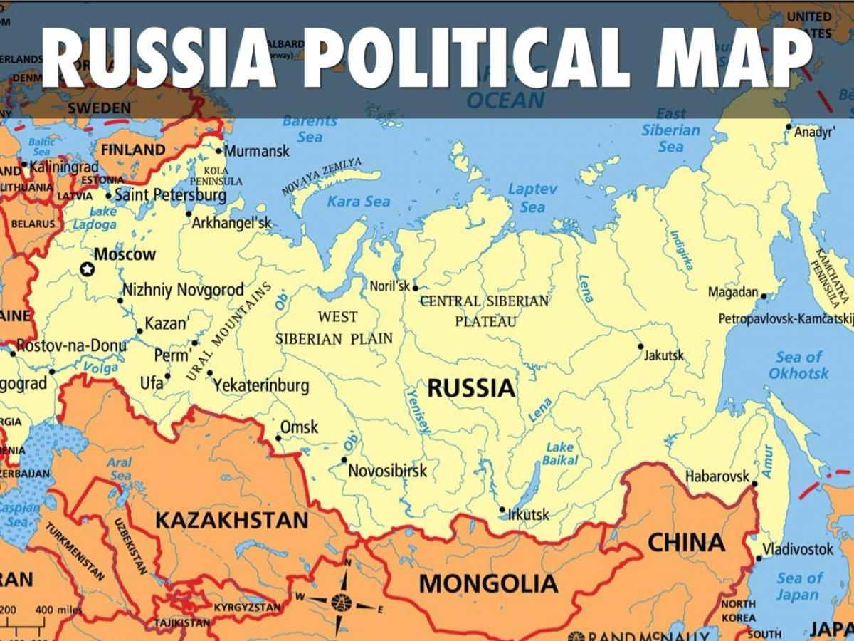 Russland Map Staaten Karte Von Russland Landern Ost Europa