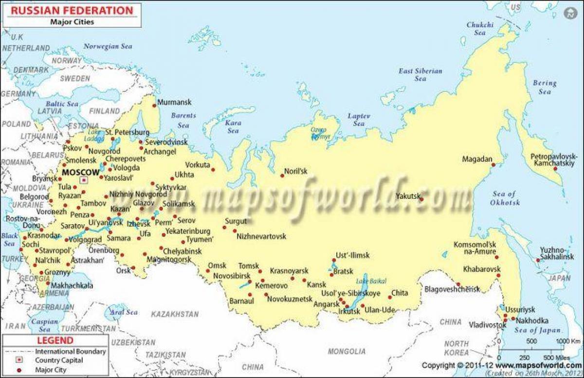 Karte Von Europa Mit Städten.Russland Landkarte Mit Städte Karte Von Russland Und Städte Ost