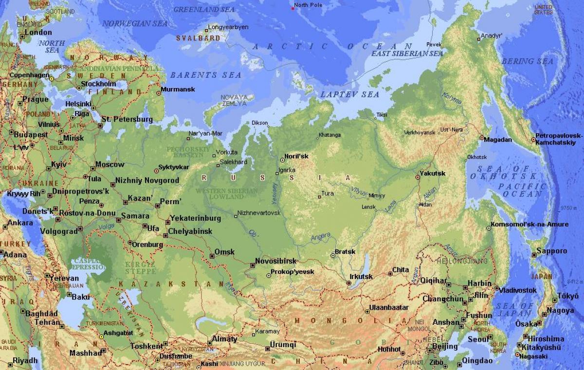 Russland Physikalischen Eigenschaften Anzeigen Physikalischen